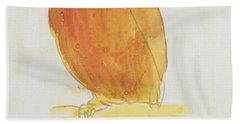 The Orange Color Bird Beach Towel