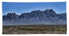 Beach Towel featuring the photograph The Organ Mountains by Gina Savage