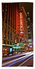 The Oriental Theater Chicago Beach Towel
