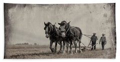 Beach Towel featuring the photograph The Original Horsepower by Brad Allen Fine Art