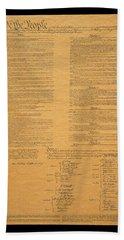 The Original United States Constitution Beach Sheet