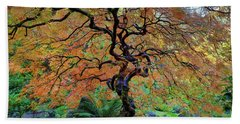 The Other Japanese Maple Tree In Autumn Beach Towel