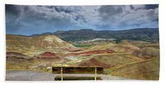 The Overlook At Painted Hills In Oregon Beach Towel