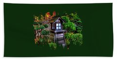 Beach Towel featuring the photograph The Pagoda At The Japanese Gardens by Thom Zehrfeld