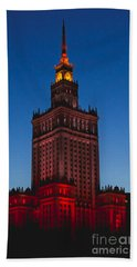 The Palace Of Culture And Science  Beach Towel
