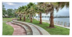 The Palms Of Water Front Park Beach Towel