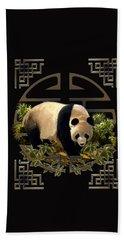 The Panda Bear And The Great Wall Of China Beach Towel