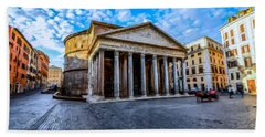 Beach Sheet featuring the painting The Pantheon Rome by David Dehner