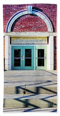 Beach Towel featuring the photograph The Paramount Theatre by Colleen Kammerer