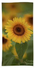 The Patch Of Sunflowers Beach Towel