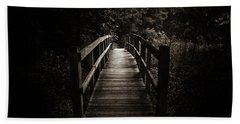 The Path Between Darkness And Light Beach Towel