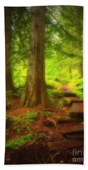 The Path Through The Forest Beach Towel