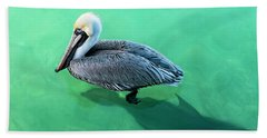 The Pelican And The Shark Beach Towel