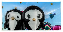 Puddles And Splash - The Penguin Hot Air Balloons Beach Sheet