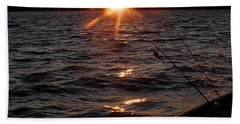 Beach Towel featuring the photograph The Perfect Ending - After A Good Day Of Fishing by Angie Rea