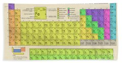 The Periodic Table Of The Elements Beach Sheet by Olga Hamilton
