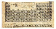 The Periodic Table Beach Sheet by Olga Hamilton