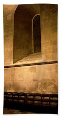 Beach Towel featuring the photograph The Pew by Lorraine Devon Wilke