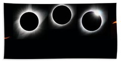 The Phases Of An Eclipse - Curved Beach Towel