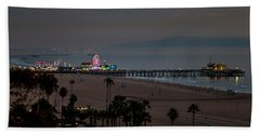 The Pier After Dark Beach Towel