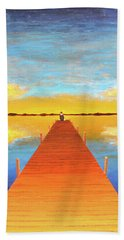 The Pier Beach Towel by Thomas Blood