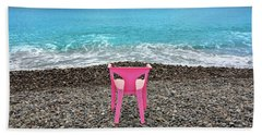 The Pink Chair Beach Towel