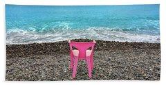 The Pink Chair Beach Sheet