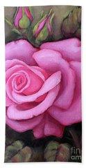 The Pink Dream Rose Beach Towel