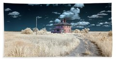 The Pink House In Halespectrum 1 Beach Towel