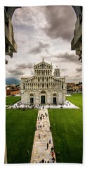 The Pisa Cathedral From The Bapistry Beach Towel