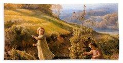 The Poem Of The Soul Spring Anne Francois Louis Janmot 1854. Beach Towel