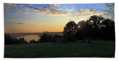 The Point At Sunrise Beach Towel