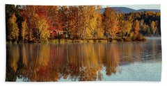The Point Of Maine Fall Colors Beach Sheet
