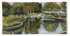 The Pond At Maple Grove Beach Towel