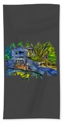 Beach Towel featuring the photograph Blakes Pond House by Thom Zehrfeld