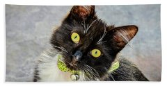 The Portrait Of A Cat Beach Towel