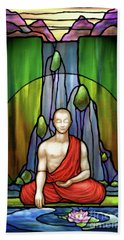 The Praying Monk Beach Towel