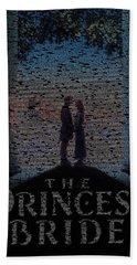 The Princess Bride Script Mosaic Beach Sheet