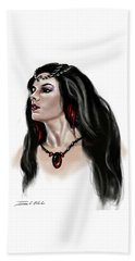 Beach Towel featuring the painting The Princess Morgana by James Christopher Hill