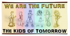 Beach Towel featuring the drawing The Proud Kids Of Tomorrow 1 by Shawn Dall