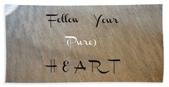 The Pure Heart Beach Towel