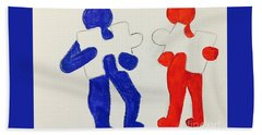 The Puzzles People  Beach Towel