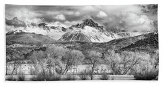 The Queen Of The San Juans In Monochrome Beach Towel