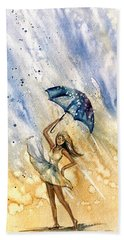 The Rain Beach Towel