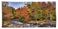 Beach Towel featuring the photograph The Rapids On The Moose River by David Patterson