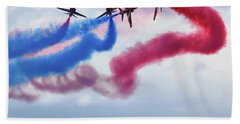 The Red Arrows Beach Towel by Nichola Denny