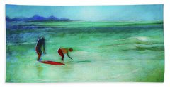 The Red Boogey Board Beach Towel
