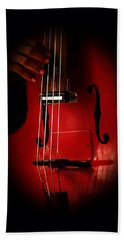 The Red Cello Beach Towel