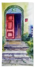 The Red Door Beach Towel