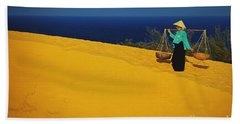 The Red San Dunes Of Mui Ne Vietnam Beach Sheet